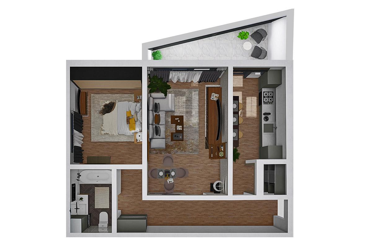 Schita Apartamente 2 camere
